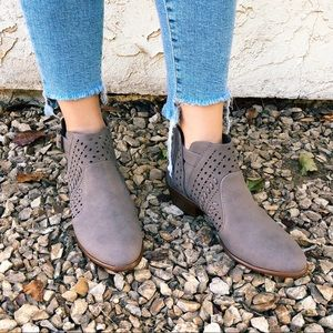 Dark Taupe Ankle Booties
